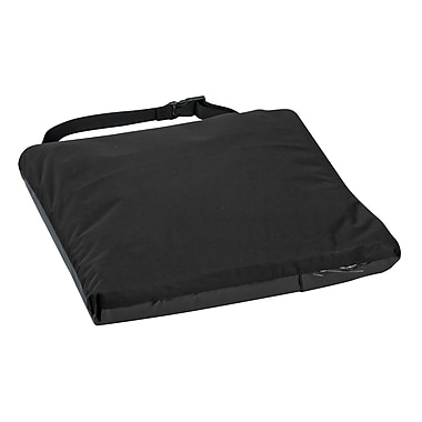 DMI® Duro-Gel™ II 16in. x 16in. x 2 1/2in. Gel-Foam Cushion, Velour Cover, Black