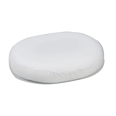 DMI® 16in. x 13in. x 3in. Foam Contoured Ring Cushion, Polyester/Cotton Cover, White