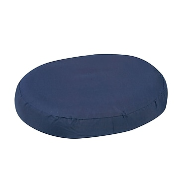 DMI® 16in. x 13in. x 3in. Foam Contoured Ring Cushion, Polyester/Cotton Cover, Navy