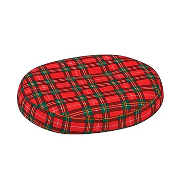 DMI® 16in. x 13in. x 3in. Foam Contoured Ring Cushion, Polyester/Cotton Cover, Plaid