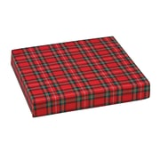 "DMI® 16"" x 18"" x 3"" Polyfoam Wheelchair Cushion, Polyester/Cotton Cover, Plaid"