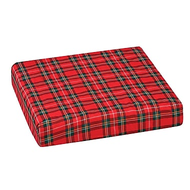 DMI® 16in. x 18in. x 3in. Polyfoam Convoluted Wheelchair Cushion, Polyester/Cotton Cover, Plaid