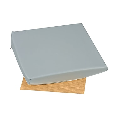 DMI® 16in. x 16in. x 2in. - 4in. Foam Slant Seat Cushion, Leatherette Cover, Grey
