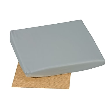DMI® 16in. x 18in. x 2in. - 4in. Foam Slant Seat Cushion, Leatherette Cover, Gray