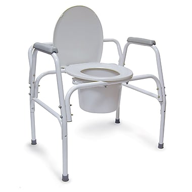 DMI® 500 lbs. Extra-Wide Heavy-Duty Steel Commode, Gray