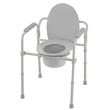 DMI® 350 lbs. Folding Commode, Aluminum
