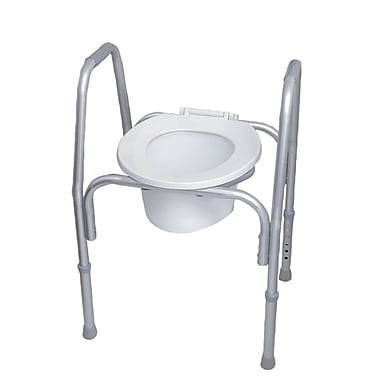 DMI® 250 lbs. 3-in-1 All Purpose Commode, Gray