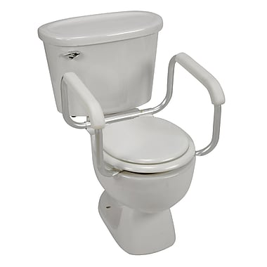 DMI® 250 lbs. Toilet Safety Adjustable Arm Support, Silver/White