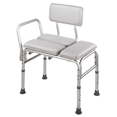 DMI® 12in. - 22in. x 27in. Deluxe Padded Transfer Bench, Gray