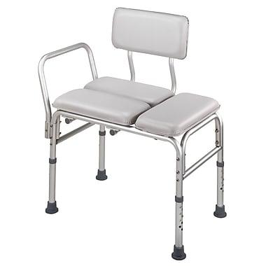 DMI® 12in. - 22in. x 27in. Deluxe Padded Transfer Bench, Gray