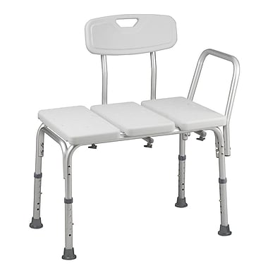 HealthSmart™ 16 1/2in. - 21 1/2in. x 26 1/2in. Transfer Bench With BactiX™, White