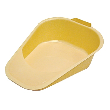 DMI® Non-Autoclavable Fracture Bed Pans, Yellow, 50/Pack