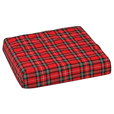 DMI® 16in. x 18in. x 4in. Foam Convoluted Chair Seat Pad, Plaid