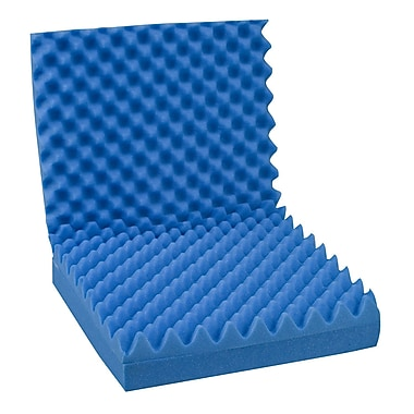 DMI® 18in. x 32in. x 3in. Foam Convoluted Chair Seat and Back Pad, Blue
