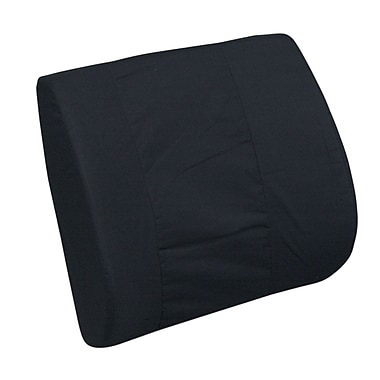 DMI® 14in. x 13in. Foam Standard Lumbar Cushion, Leatherette Cover, Black