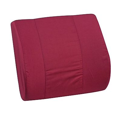 DMI® 14in. x 13in. Foam Standard Lumbar Cushion, Polyester/Cotton Cover, Burgundy