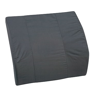 DMI® 14in. x 13in. Foam Contour Bucket Seat Lumbar Cushion Without Strap, Polyester/Cotton Cover, Black