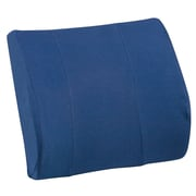 DMI® Relax-A-Bac® 14 x 13 Foam Lumbar Cushion With Strap, Polyester/Cotton Cover, Navy Blue