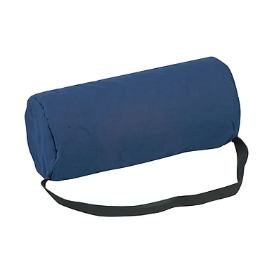 DMI® 10 3/4in. x 4 3/4in. Foam Standard Lumbar Back Full Roll Cushion, Polyester/Cotton Cover, Navy