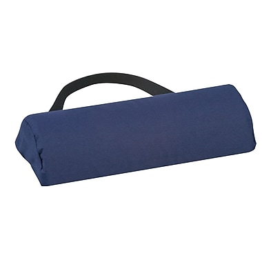 DMI® 10 3/4in. x 2 3/8in. Foam Lumbar Half Roll Cushion, Polyester/Cotton Cover, Navy