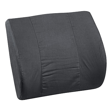 DMI® 14in. x 13in. Foam Memory Lumbar Cushion With Strap, Polyester/Cotton Cover, Black
