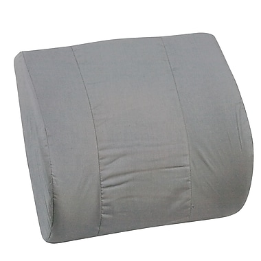 DMI® 14in. x 13in. Foam Memory Lumbar Cushion With Strap, Polyester/Cotton Cover, Gray