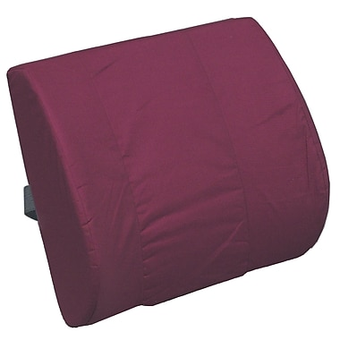 DMI® 14in. x 13in. Foam Memory Lumbar Cushion With Strap, Polyester/Cotton Cover, Burgundy