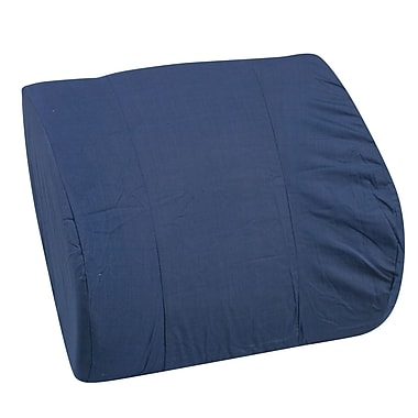 DMI® 14in. x 13in. Foam Memory Lumbar Cushion With Strap, Polyester/Cotton Cover, Navy
