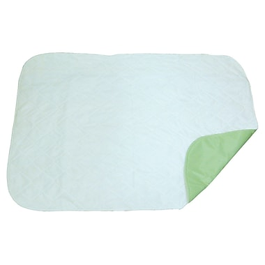 DMI® 30in. x 36in. 3-Ply Quilted Reusable Underpad, White and Green