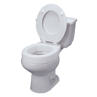 DMI® Elongated Hinged Toilet Seat, 300 lbs.