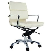 Creative Images International Murphy Low Back Leatherette Padded Office Chair w/Chrome Base; Brown
