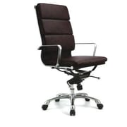 Creative Images International High Back Leatherette Padded Office Chair with Chrome Base; White
