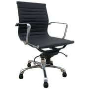 Creative Images International Low Back Leatherette Office Chair with Chrome Base; Brown