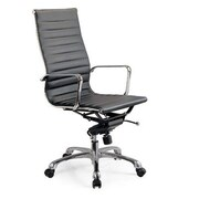 Creative Images International High Back Leatherette Office Chair; Brown