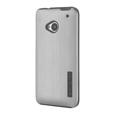 Incipio® DualPRO Shine Case For HTC One, Silver/Black