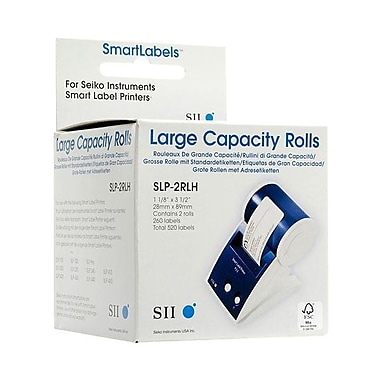 Seiko® SLP-2RLH Large Capacity Address Label, Direct Thermal