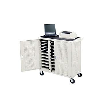Bretford® 30 Units Welded Laptop Storage Cart, White