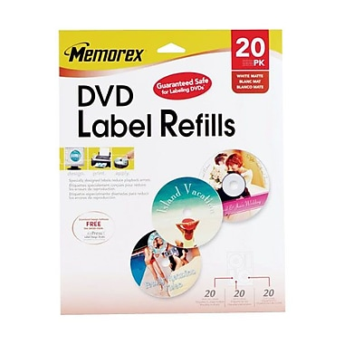 Imation Memorex™ 715 White DVD Label