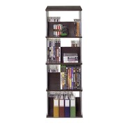 Atlantic® Typhoon 216CD Spinner Multimedia Storage, Gunmetal/Espresso