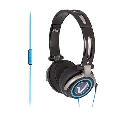 ifrogz® Zagg® Vertex Headphones With Mic, Black/Blue