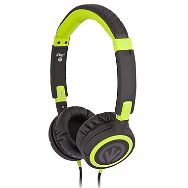 ifrogz® Zagg® Earpollution Frequency Headphones, Black/Green