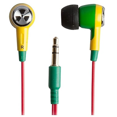 ifrogz® Zagg® Earpollution Ozone Personal Earbuds, Green/Yellow