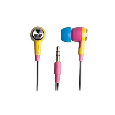 ifrogz® Zagg® Earpollution Ozone Personal Earbuds, Pink/Yellow
