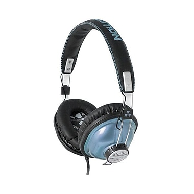 ifrogz® Zagg® Earpollution ThrowBax Headphones, Metallic Blue