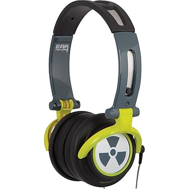 ifrogz® Zagg® CS40 Earpollution Personal Headphones, Green/Gray