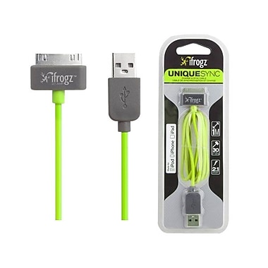 Zagg® ifrogz® Uniquesync 3.28' Sync/Charge USB/Proprietary Data Transfer Cable, Green