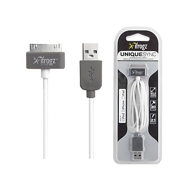 Zagg® ifrogz® Uniquesync 3.28' Sync/Charge USB/Proprietary Data Transfer Cable, White