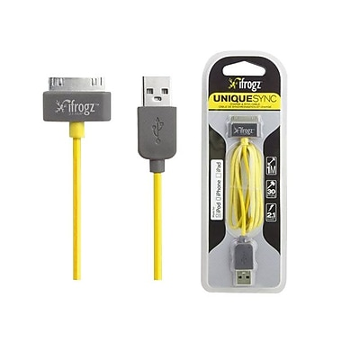 Zagg® ifrogz® Uniquesync 3.28' Sync/Charge USB/Proprietary Data Transfer Cable, Yellow