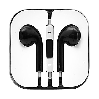 4XEM™ 4XAPPLEAR Earpod Earphones With Remote and Mic For iPhone/iPod/iPad, Black