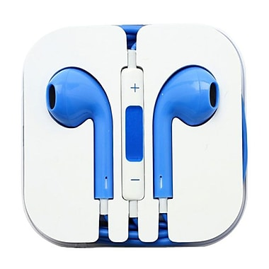 4XEM™ 4XAPPLEAR Earpod Earphones With Remote and Mic For iPhone/iPod/iPad, Blue